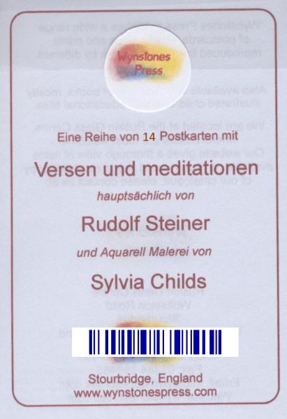 Rudolf Steiner / Childs Karten mit 16 Versen und Meditationen