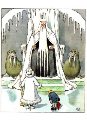 Postkarte*  König Winter Elsa Beskow