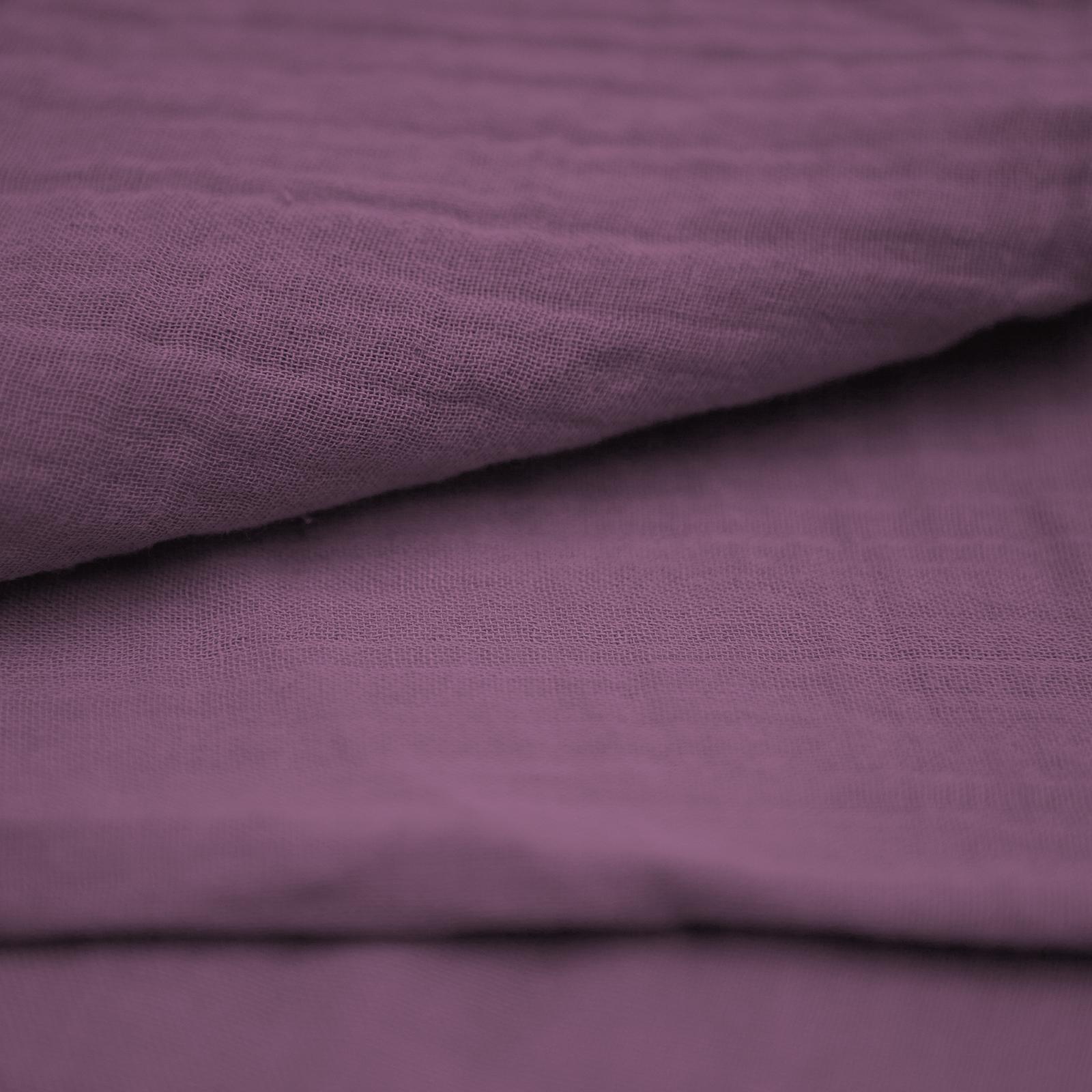 Bio Doppel- Mull / Musselin lila purple passion