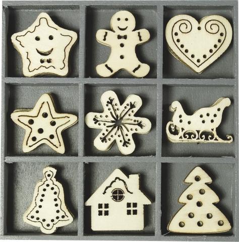 Holzbox Ornamente Sweet X-Mas