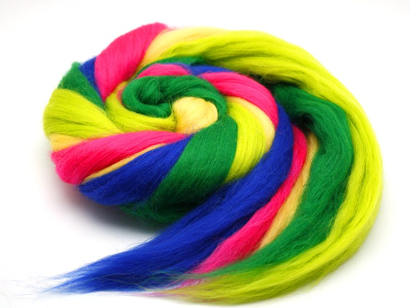 Neon - Farben Merinokammzug 100 g