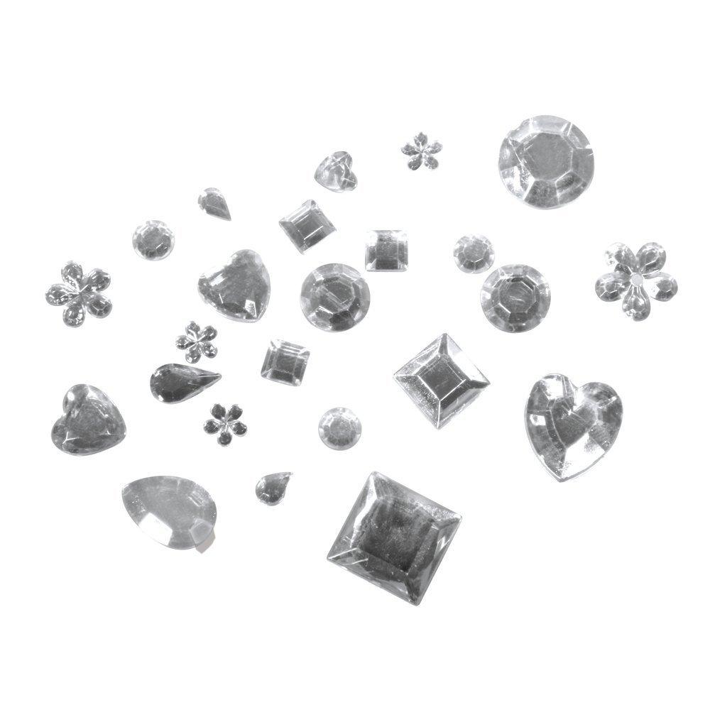 Acryl - Strasssteine - Mix kristall irisierend