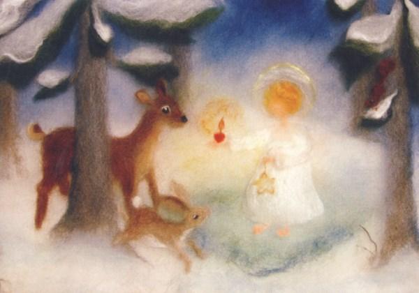 Kunstkarte * Christkind im Wald