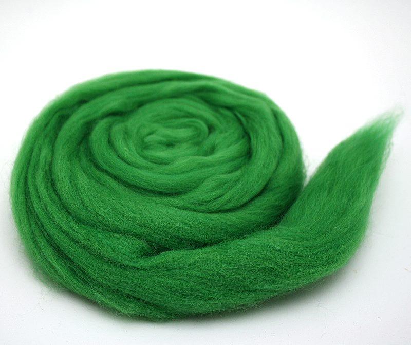 Extrafeiner Merinokammzug grün
