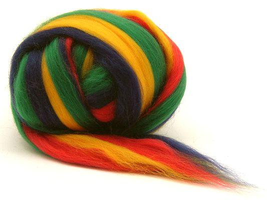 Filzwolle / Feiner multicolor Merinokammzug Kunterbunt