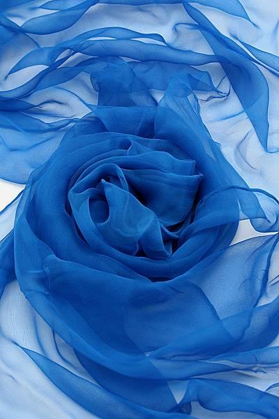 Seidenschal aus Chiffon 180 x 55 cm Ultramarine