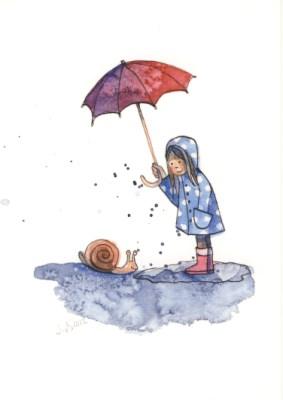 Kunstkarte * Regenschneck