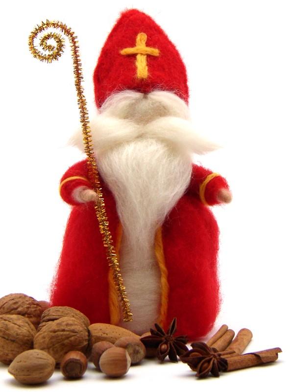Bastelpackung Sankt Nikolaus aus Märchenwolle T&W