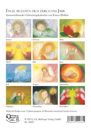 Immerwährender Geburtstags- Kalender Engel