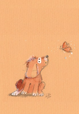 Bob - Hund mit Schmetterling