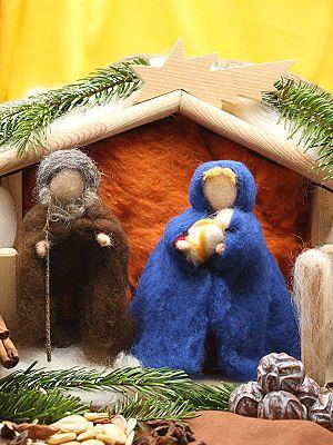 Bastelpackung Die Heilige Familie aus Märchenwolle T&W