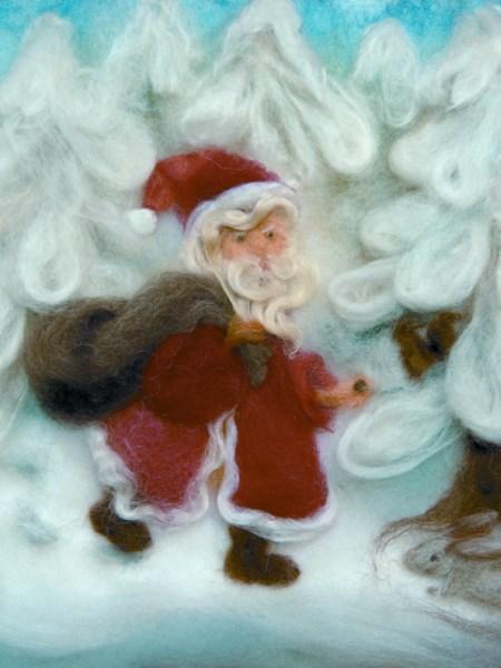 Kunstkarte Wollbild Nikolaus