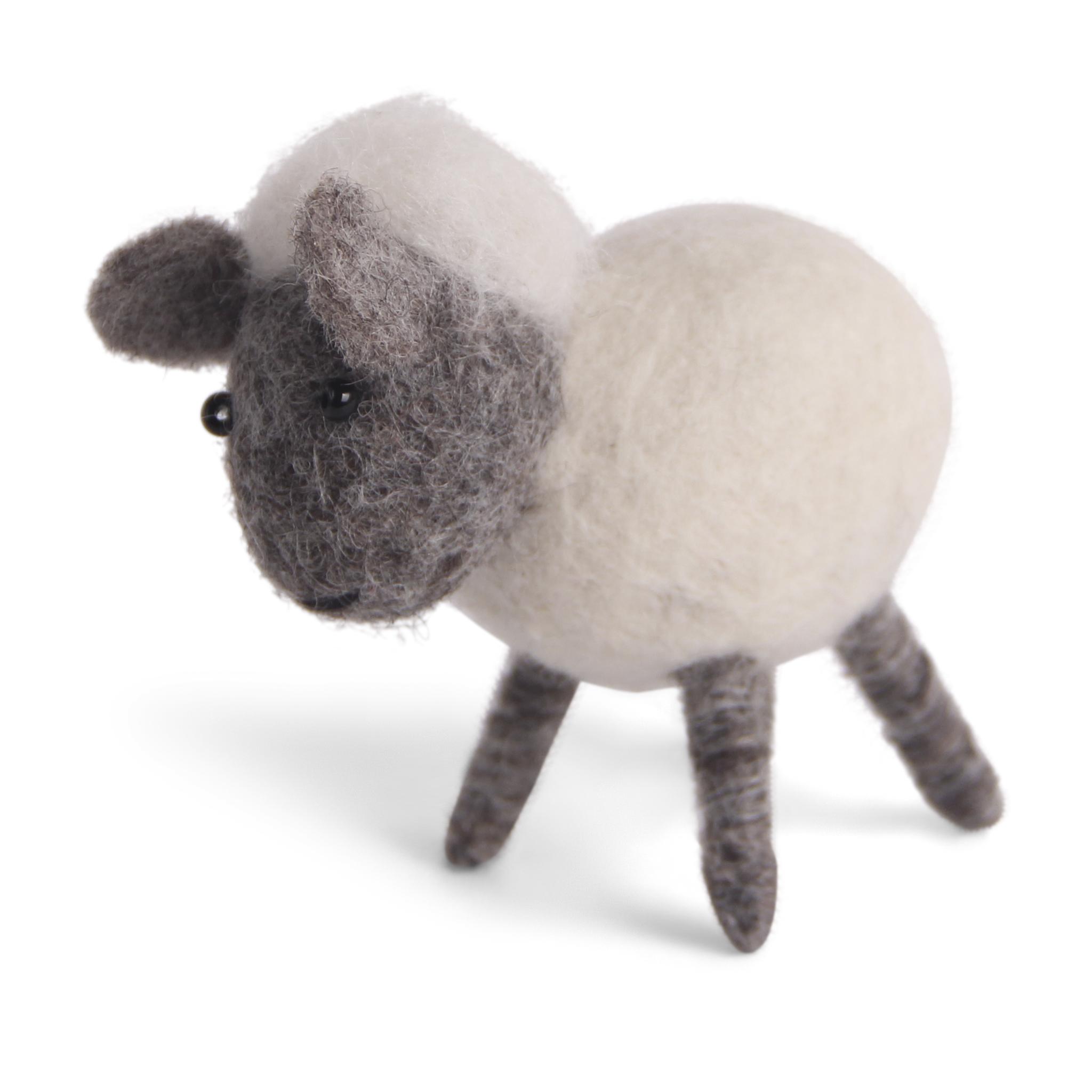 Süßes gefilztes weiße Schaf 15 cm