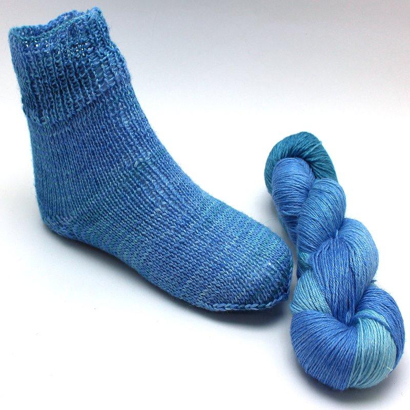 Turin Sockenwolle Eismeer