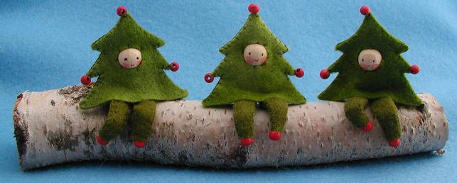 Bastelpackung drei Weihnachtsbäumchen Atelier Pippilotta