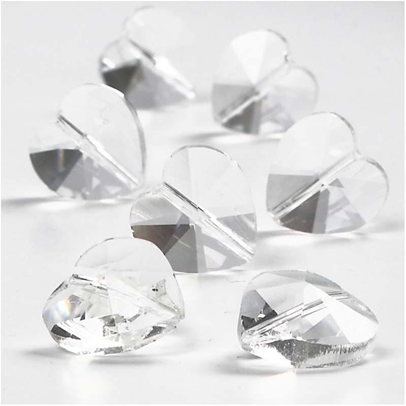 Schöne Kristallherzen zum Basteln 30 Stück