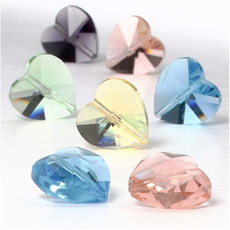 Bunte Kristallherzen zum Basteln 30 Stück