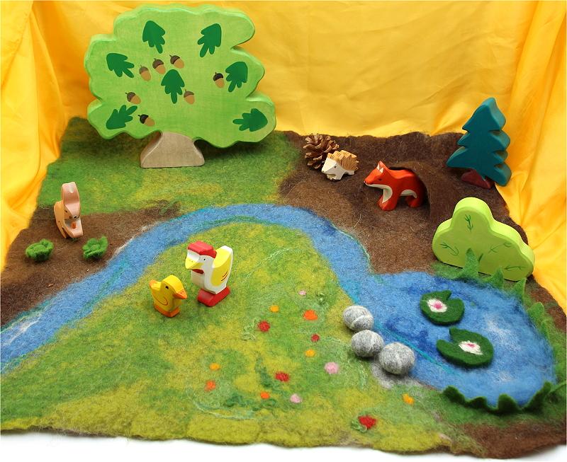 Filzpackung Spielteppich für den Jahreszeitentisch