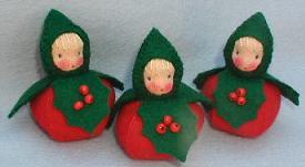 Bastelpackung drei Stechpalmenkinder Atelier Pippilotta