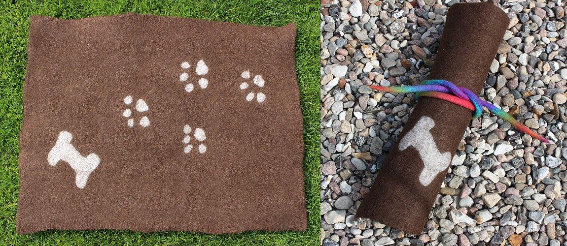 Filzset Hundedecke ca. 76 x 60 cm