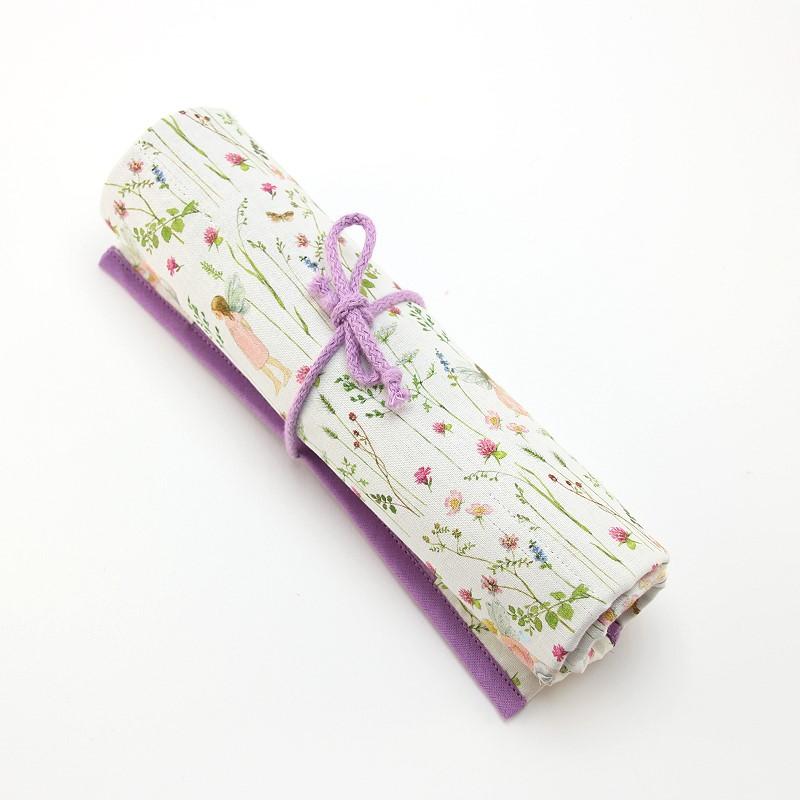Rollmäppchen / Stiftemäppchen Elfe rosa