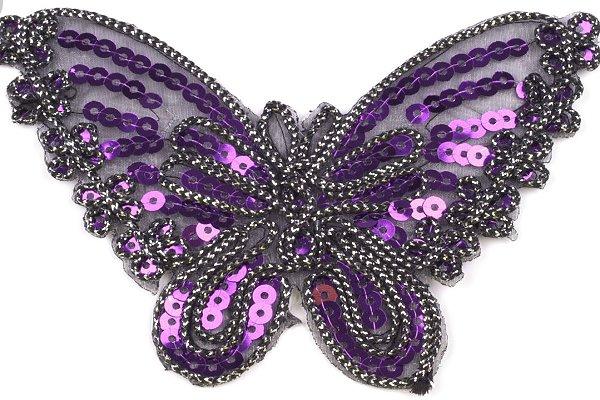 Aufbügeln- Applikation Schmetterling lila