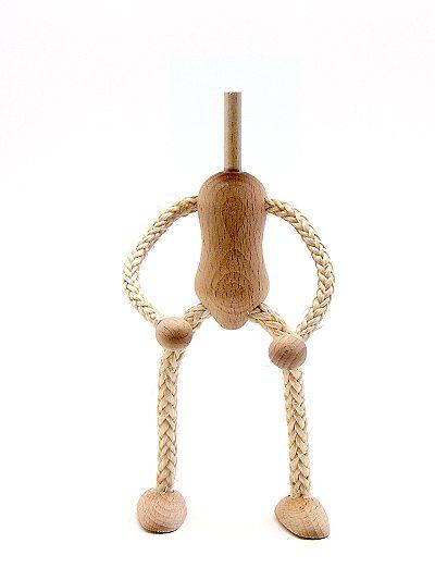 Biegepüppchen aus Holz und Sisal ohne Kopf 14 cm