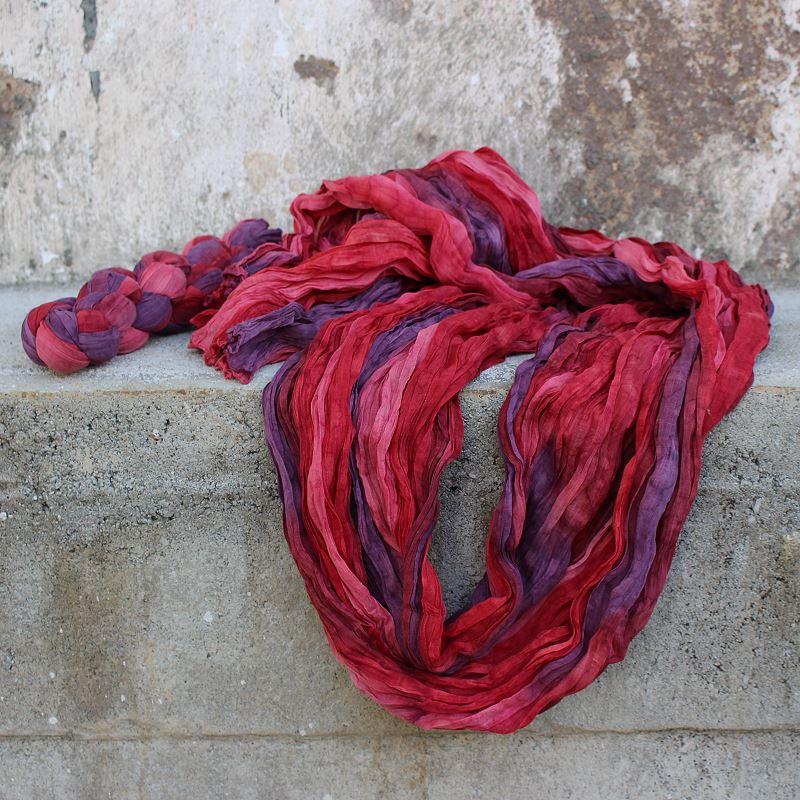 Baumwollschal Beeren 180 x 85 cm