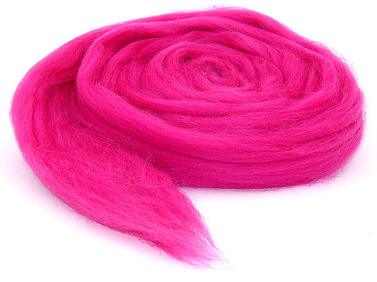 Filzwolle / Bunter Merinokammzug Pink (24)